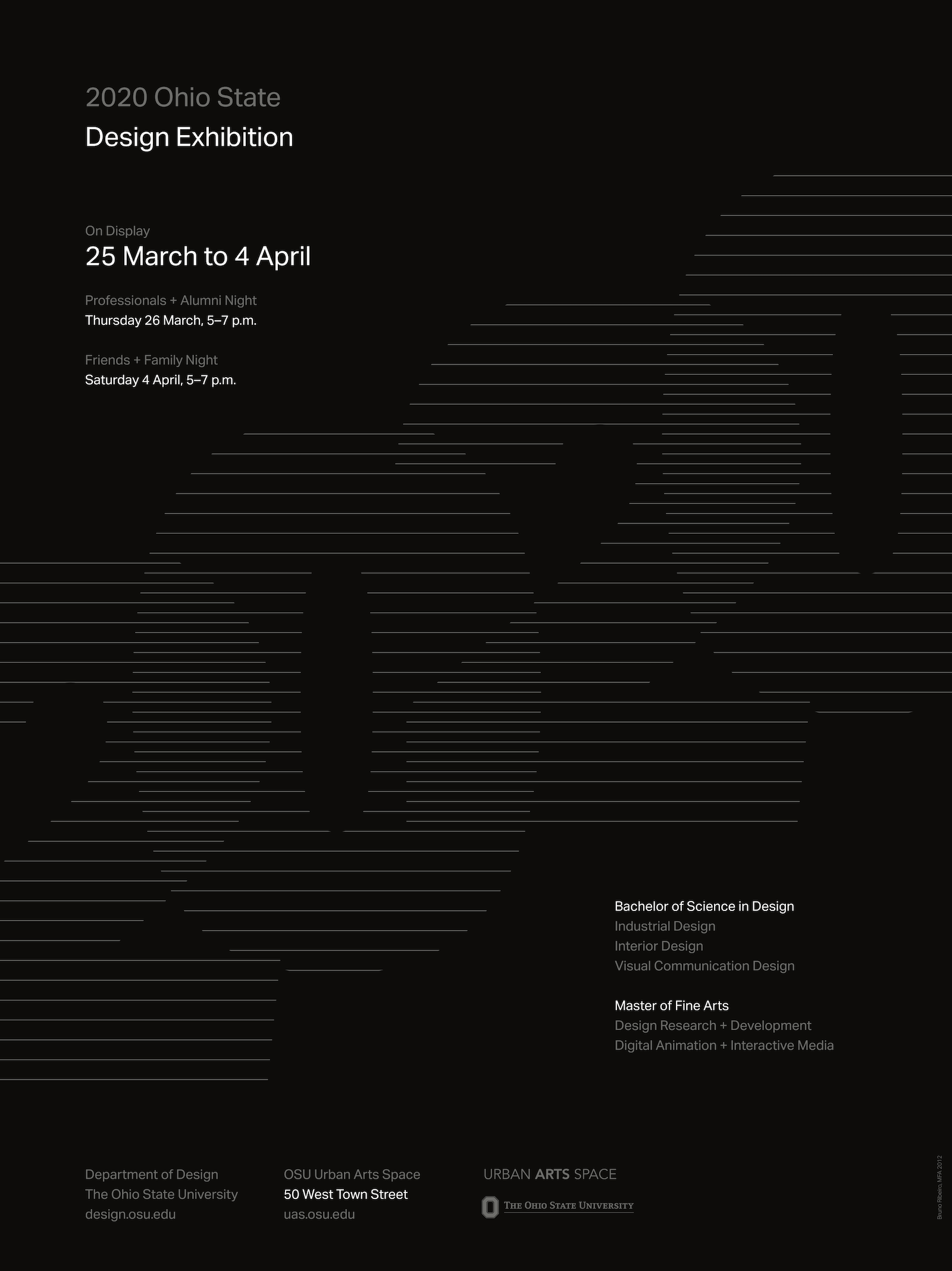 Department of Design Spring Exhibition 2020 Poster