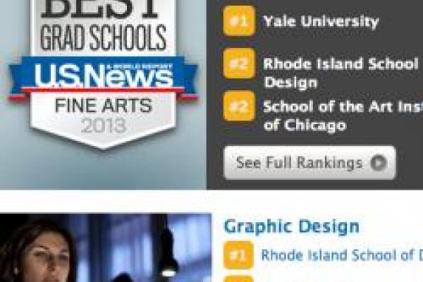 Design graduate program ranked by US News & World Report